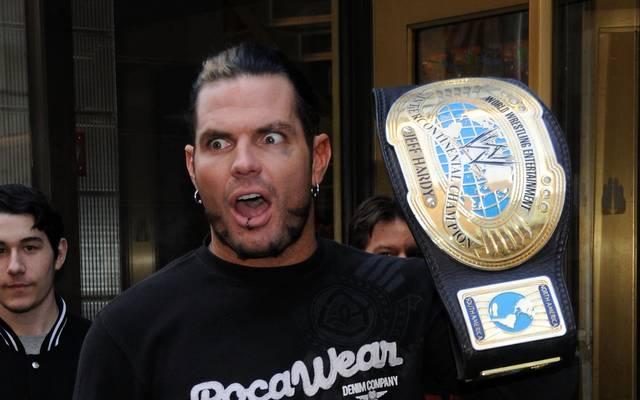 Jeff Hardy bei einem Promo-Termin für WWE 2007