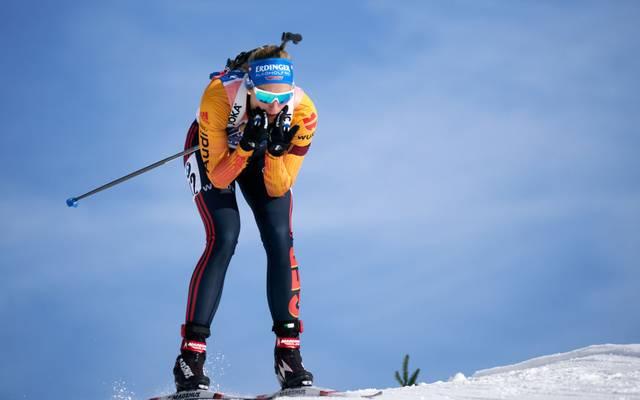 Vanessa Hinz und Denise Herrmann wollen beim Sprint in Oberhof aufs Podest