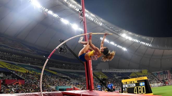 Angelica Bengtsson bricht bei der Leichtathletik-WM in Doha der Stab