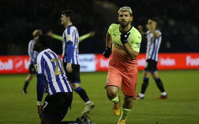 Sergio Agüero erzielte gegen Sheffield Wednesday sein 254. Tor im Trikot von Manchester City