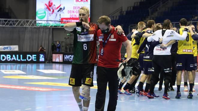 Matthias Musche (SC Magdeburg) verletzte sich gegen die Rhein-Neckar Löwen