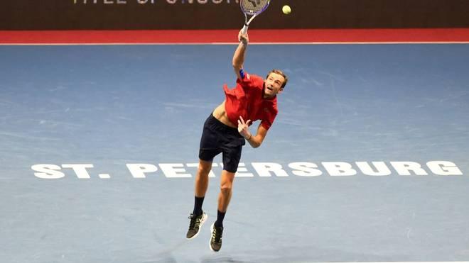 Daniil Medvedev hat das Turnier in St. Petersburg gewonnen