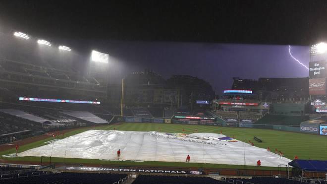 Der MLB-Saisonauftakt zwischen Washington und New York wurde im sechsten Inning abgebrochen