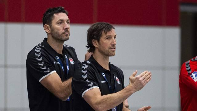 Blazenko Lackovic (l.) und Torsten Jansen bilden das Trainer-Duo des HSVH