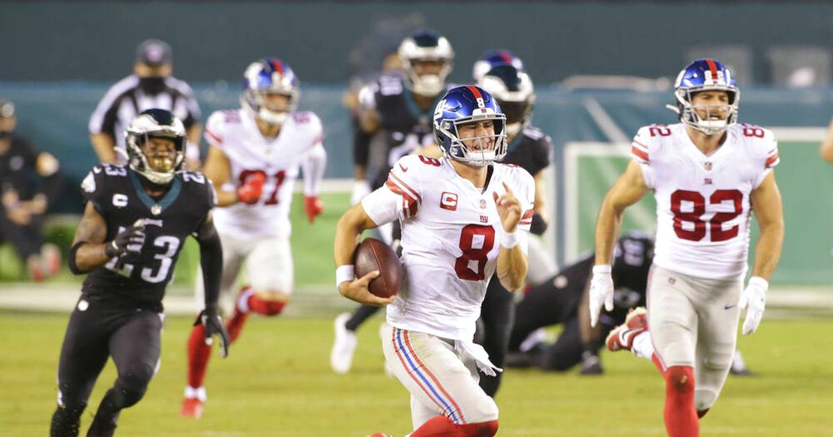 NFL: Philadelphia Eagles besiegen New York Giants - Jones verstolpert Touchdown