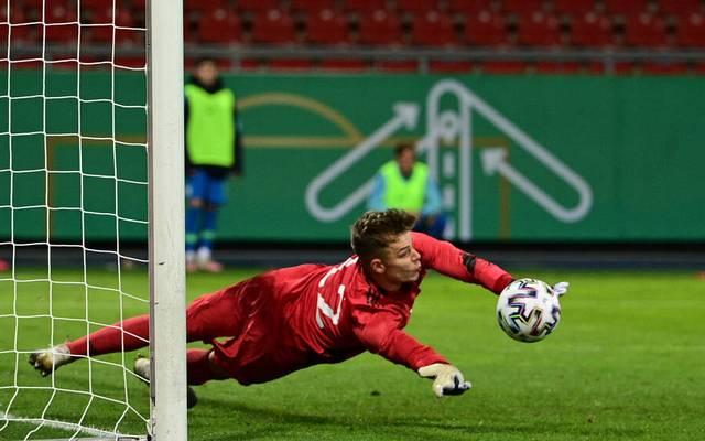 Finn Dahmen zeigte für die deutsche U21 eine starke Leistung