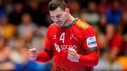 Portugal´s Pedro Portela celebrate scoring during the Men´s Handball European Championship preliminary round match Portugal v Bosnia and Herzegovina in Trondheim, Norway, on January 12, 2020. (Photo by Ole Martin Wold / various sources / AFP) / Norway OUT (Photo by OLE MARTIN WOLD/NTB Scanpix/AFP via Getty Images)