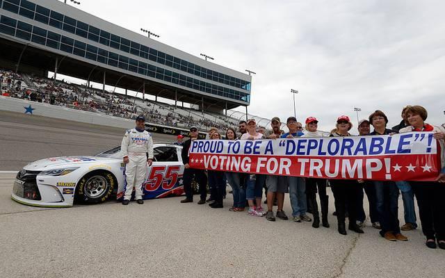 Wahlwerbung für Donald Trump im Jahr 2016
