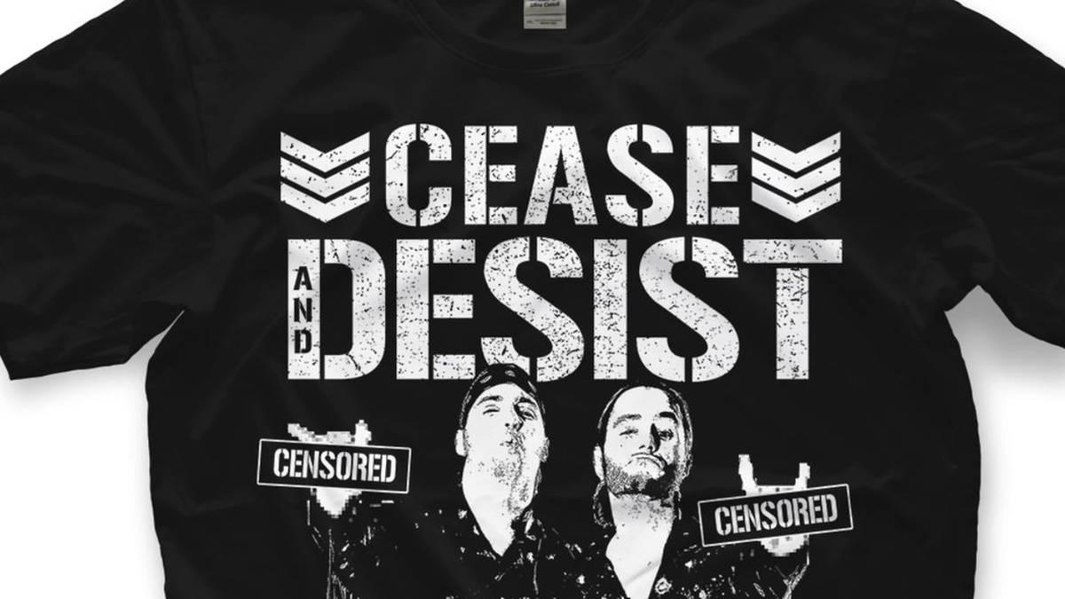 Die Young Bucks vermarkten nach ihrer Abmahnung durch WWE nun ein Spott-Shirt