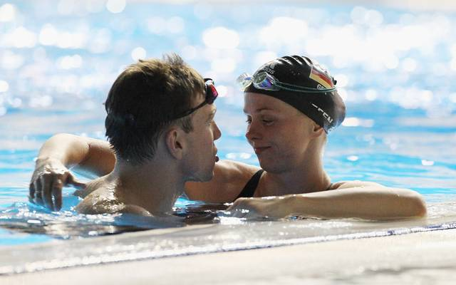 Britta Steffen und Paul Biedermann avancierten zum deutschen Schwimm-Traumpaar