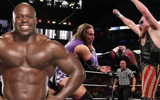 WWE-Star Apollo Crews ist ein alter Bekannter der deutschen Ringhoffnung Alexander Wolfe (r.)