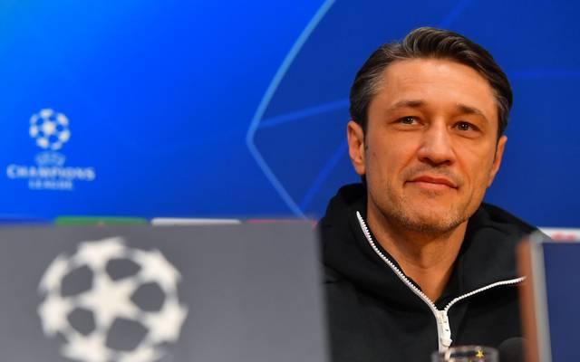 Bayern-Trainer Niko Kovac stellt sich vor dem Liverpool-Spiel den Fragen der Journalisten