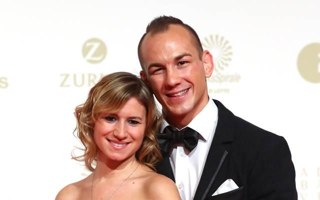 Frank Stäbler und Frau Sandra bei der Sportler-des-Jahres-Gala 2017