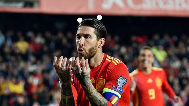 Sergio Ramos traf in seinem fünften Länderspiel nacheinander