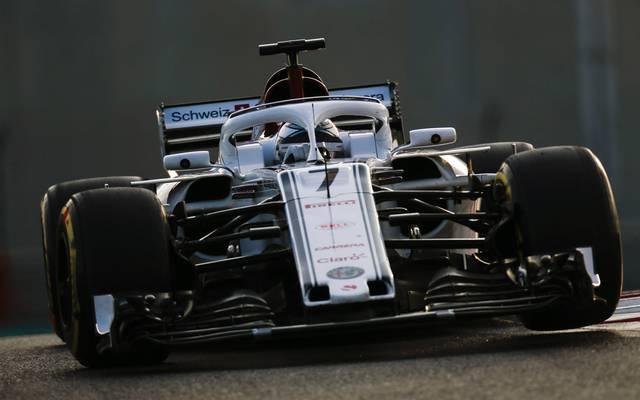 Kimi Räikkönen testete in Abu Dhabi nicht mehr im Ferrari, sondern für sein neues Team Sauber