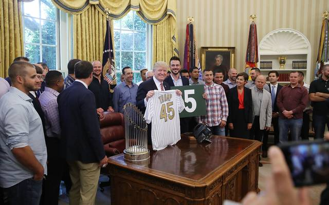 World Series Champions Chicago Cubs Hosted By President Trump At The White House