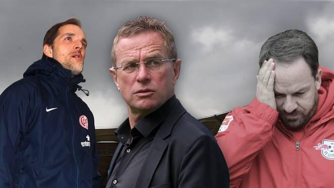 Thomas Tuchel, Ralf Rangnick und Alex Zorniger (v.l.n.r.)