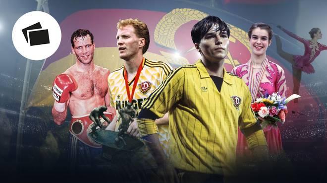 Herny Maske, Matthias Sammer, Jörg Stübner und Kathi Witt waren in der DDR bereits große Stars
