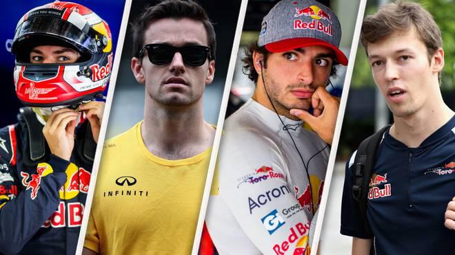 Von der Kettenreaktion um Honda und Toro Rosso betroffen (v.l.): Pierre Gasly, Jolyon Palmer, Carlos Sainz, Daniil Kwjat