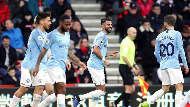 Riyad Mahrez erzielte den Führungstreffer für Manchester City gegen den AFC Bournemouth