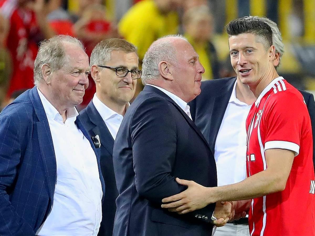 """Uli Hoeneß: """"Robert Lewandowski jetzt ein echter Bayern-Spieler"""""""