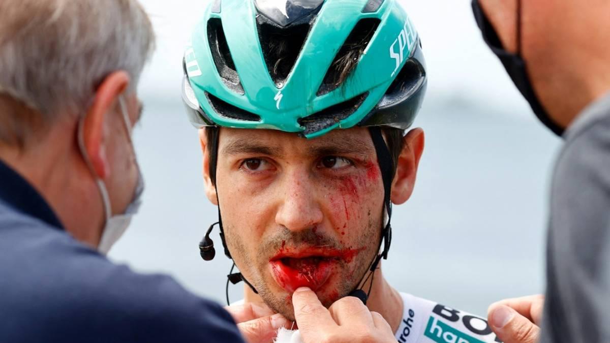 Für Emanuel Buchmann war der Giro nach einem Sturz vorbei