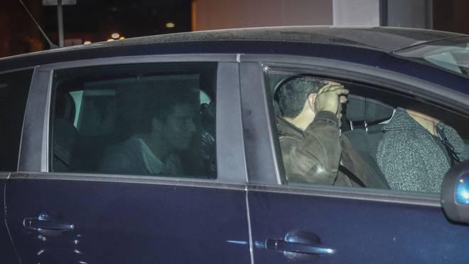 Rui Pinto am Donnerstag bei seiner Ankunft im Polizeipräsidium von Lissabon