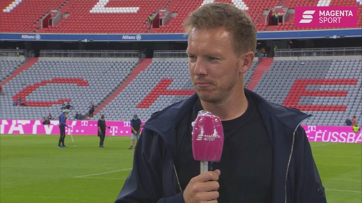 Bayern-Trainer Julian Nagelsmann spricht über den Entwicklungsplan seiner Mannschaft über den Saisonstart hinaus.