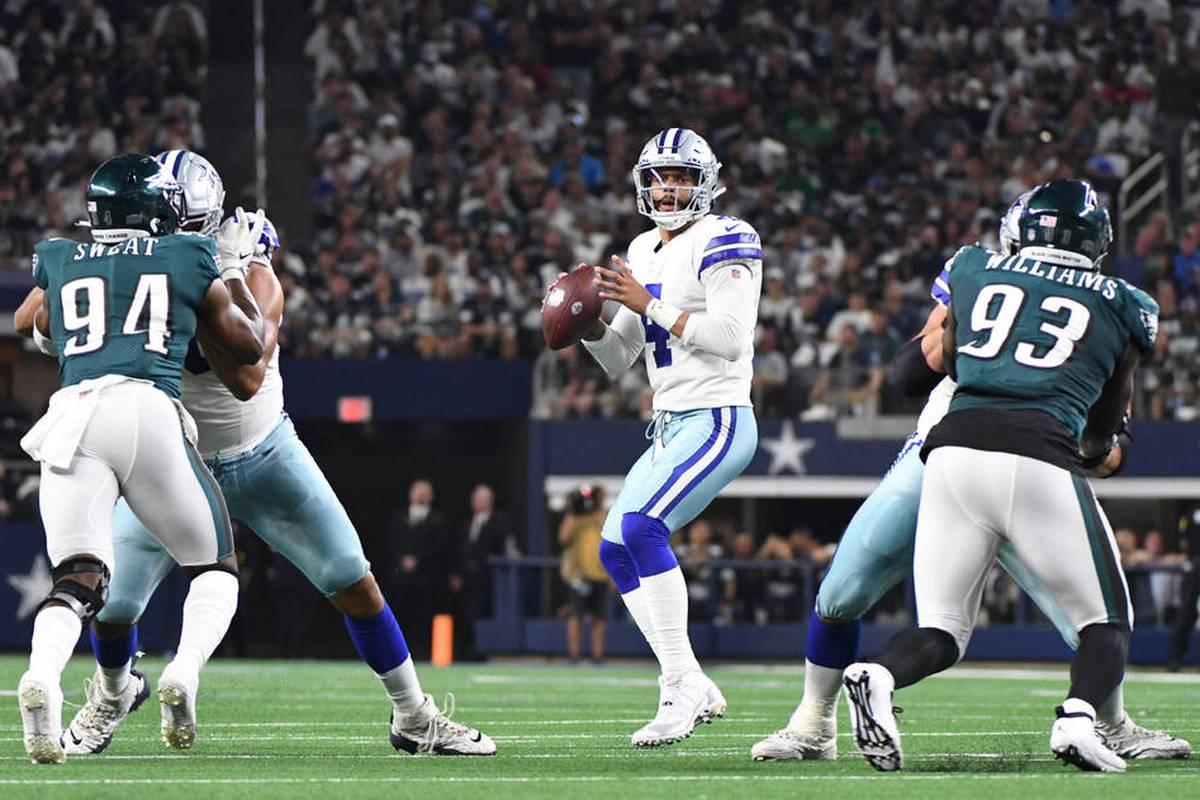 Den Dallas Cowboys gelingt gegen die Philadelphia Eagles ein souveräner Sieg. Im AT&T Stadium sticht die Offensive Line der Cowboys heraus.