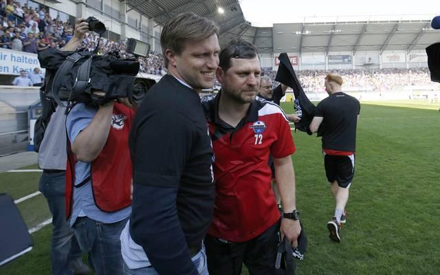 Markus Krösche und Steffen Baumgart