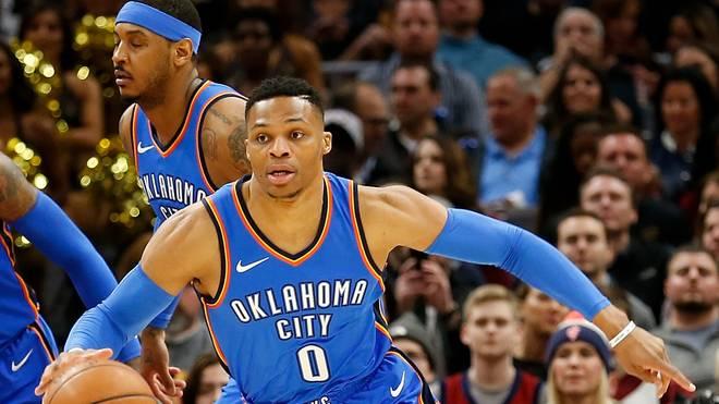 Russell Westbrook erzielt in dieser Saison durchschnittlich 24,9 Punkte aber auch 4,5 Turnover