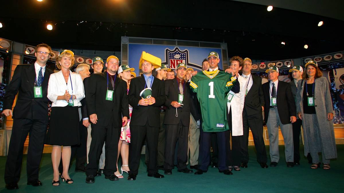 Quarterback Aaron Rodgers wurde an Position 24. von den Packers ausgewählt