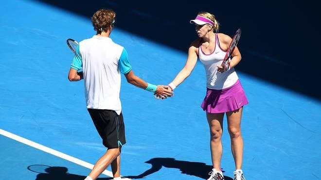 Alexander Zverev (l.) und Sabine Lisicki machen die Auftaktpleite gegen Australien wieder wett