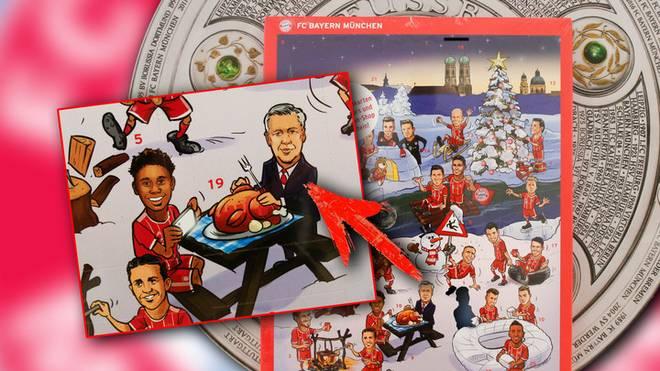 Auf der alten Version des Adventskalender ist noch Carlo Ancelotti zu sehen