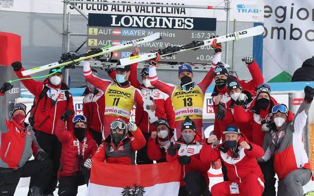 Die Ski-Nation Österreich durfte in Bormio wieder jubeln