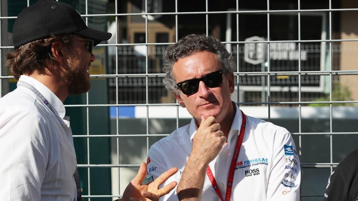 Alejandro Agag (r.) ist Boss der Elektro-Rennserie Formel E
