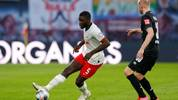 Leipzig's French defender Dayot Upamecano (L) and Bremen's Dutch defender Davy Klaassen vie for the ball during the German first division Bundesliga football match RB Leipzig vs SV Werder Bremen, in Leipzig, eastern Germany on February 15, 2020. (Photo by Odd ANDERSEN / AFP) / RESTRICTIONS: DFL REGULATIONS PROHIBIT ANY USE OF PHOTOGRAPHS AS IMAGE SEQUENCES AND/OR QUASI-VIDEO (Photo by ODD ANDERSEN/AFP via Getty Images)
