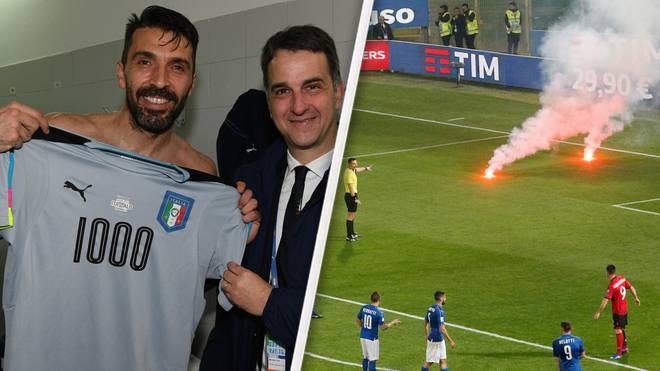 Das 1000. Spiel von Gianluigi Buffon wurde von Pyro-Werfern gestört