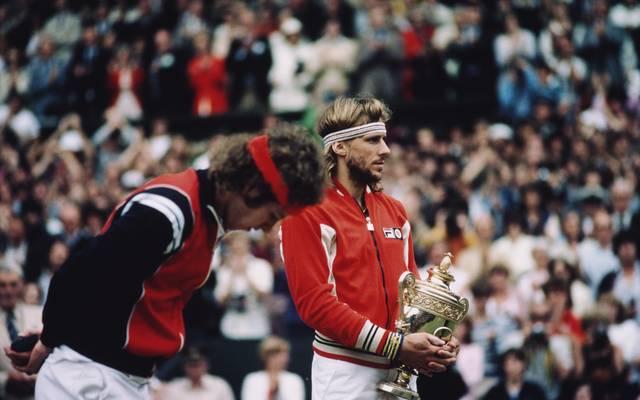 Björn Borg (r.) und John McEnroe prägten in den 80er Jahren den Tennissport entscheidend mit
