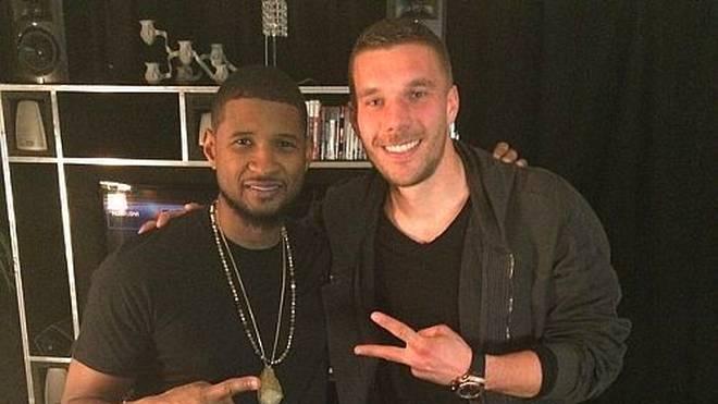 Lukas Podolski hat einen neuen Buddy: Usher.