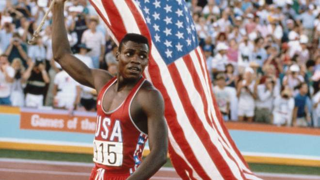 Carl Lewis holte bei Olympia 1984 viermal Gold