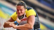 Germany's Christina Schwanitz competes in the Women's Shot Put heats at the 2019 IAAF Athletics World Championships at the Khalifa International stadium in Doha on October 2, 2019. (Photo by ANDREJ ISAKOVIC / AFP) (Photo by ANDREJ ISAKOVIC/AFP via Getty Images)