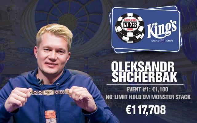 Oleksandr Shcherbak kann sich über ein WSOP-Bracelet freuen