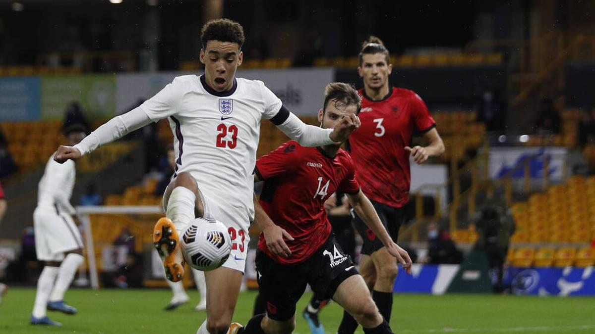 Jamal Musiala im Trikot der englischen U21-Nationalmannschaft