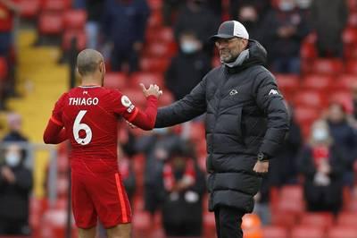 Thiago erlebte beim FC Liverpool keine einfache erste Saison. Doch Trainer Jürgen Klopp ist überzeugt, dass sich der Spanier noch steigern wird.