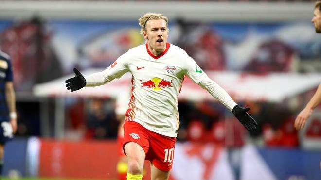 Emil Forsberg schoss das 1:0 für Leipzig gegen Union Berlin