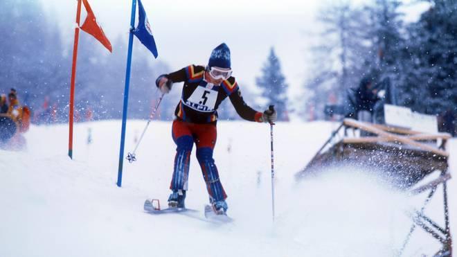 Rosi Mittermaier holte bei den Olympischen Winterspielen 1976 in Innsbruck zwei Goldmedaillen