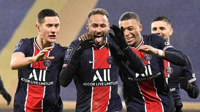 Auch Superstar Neymar traf beim Supercup-Sieg von Paris Saint-Germain gegen Olympique Marseille