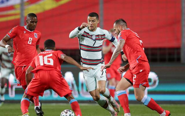 Cristiano Ronaldo geriet mit Portugal in Luxemburg in Rückstand