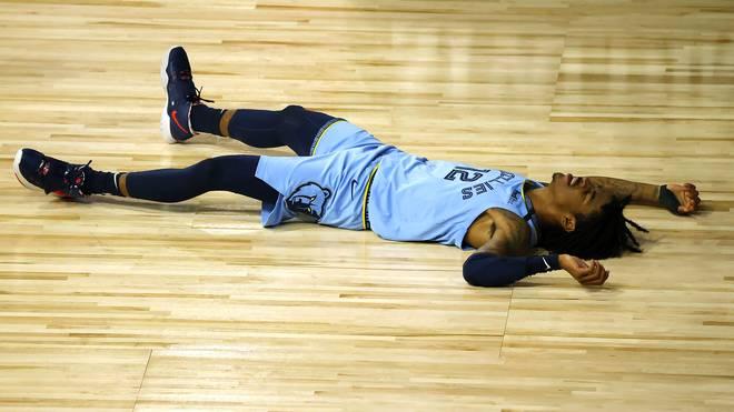 Ja Morant verletzte sich beim ersten Saisonsieg der Memphis Grizzlies